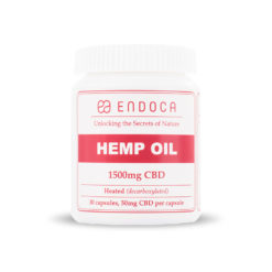 Hemp Oil CBD Capsules 1500mg by Endoca