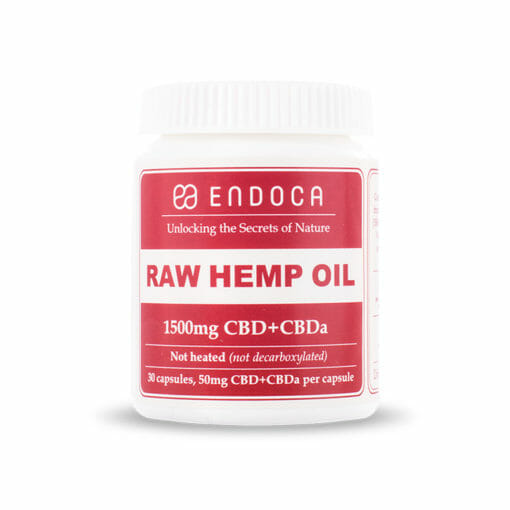 RAW Hemp Oil Capsules 1500mg by Endoca