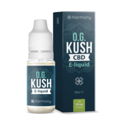 Harmony CBD E-liquid, OG Kush, the full selection of all Harmony CBD E-Liquids