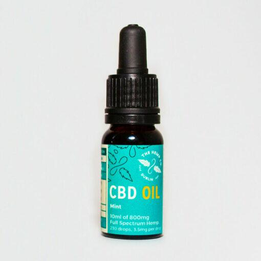 CBD Oil 10ml Mint Bottle by Hemp Company