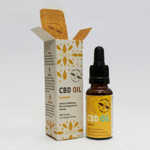 CBD Oil 20ml Lemon Open by Hemp Company