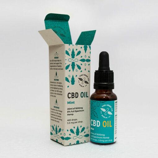 CBD Oil 20ml Mint Open by Hemp Company
