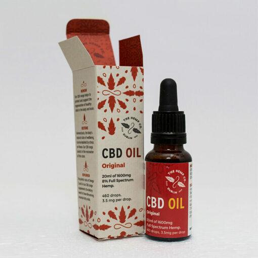 CBD Oil 20ml Open by Hemp Company