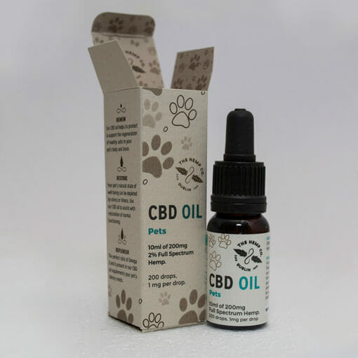 CBD Oil for Pets Open by Hemp Company