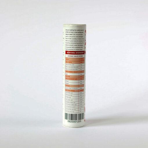 CBD Paste 10g Nutrition Label by Hemp Company