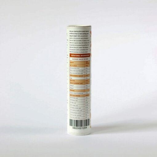 CBD Paste 5g Nutrition Label by Hemp Company
