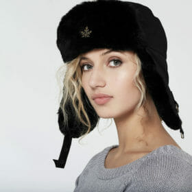 Ruderalis Hat Ladies and Mens Model Black
