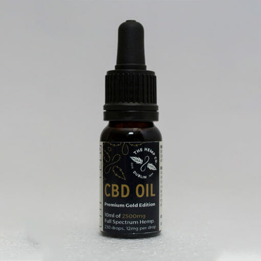 Gold Edition CBD Oil Bottle by Hemp Company