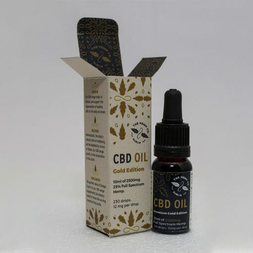 Gold Edition CBD Oil Open by Hemp Company