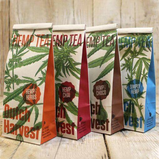 Hemp Tea Packaging by Dutch Harvest