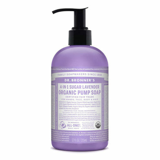 4 in1 Sugar Soap for Body and Hair Lavender by Dr Bronner's