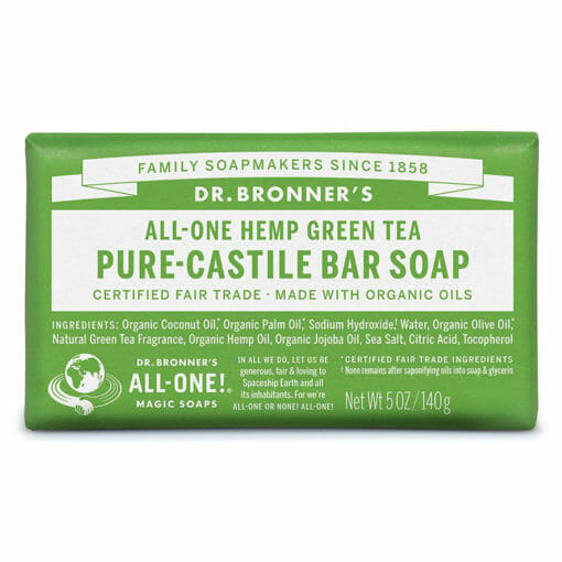 Pure Castile Bar Soap Green Tea by Dr. Bronner's