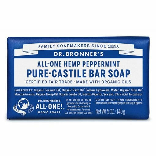 Pure Castile Bar Soap Peppermint by Dr. Bronner's