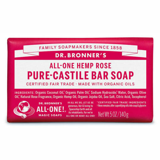 Pure Castile Bar Soap Rose by Dr. Bronner's