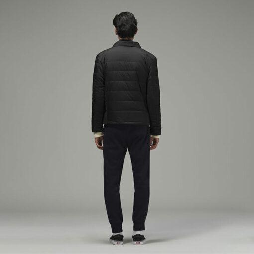 Stylish Men's Biker Jacket Black by Hemp Tailors Back View
