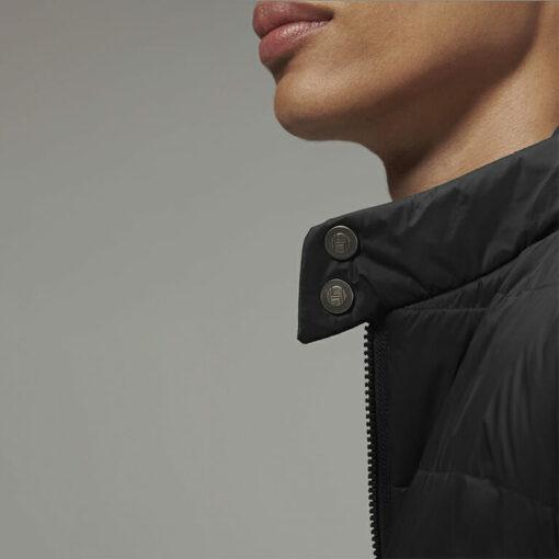 Stylish Men's Biker Jacket Black by Hemp Tailors Closeup