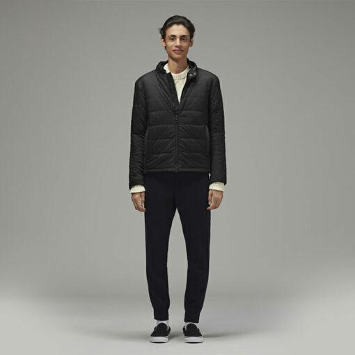 Stylish Men's Biker Jacket Black by Hemp Tailors Front View