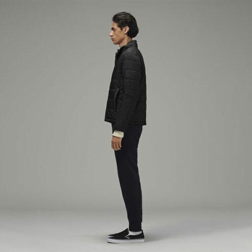 Stylish Men's Biker Jacket Black by Hemp Tailors Side View