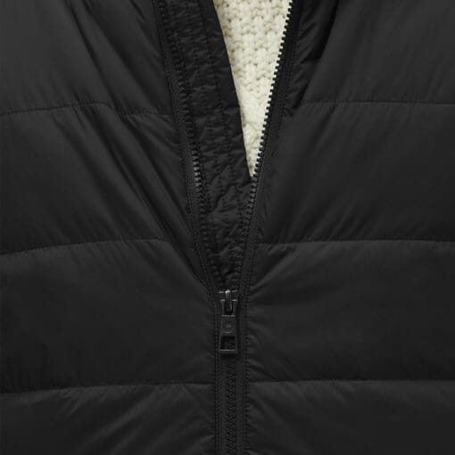 Stylish Men's Biker Jacket Black by Hemp Tailors Zipper Closeup