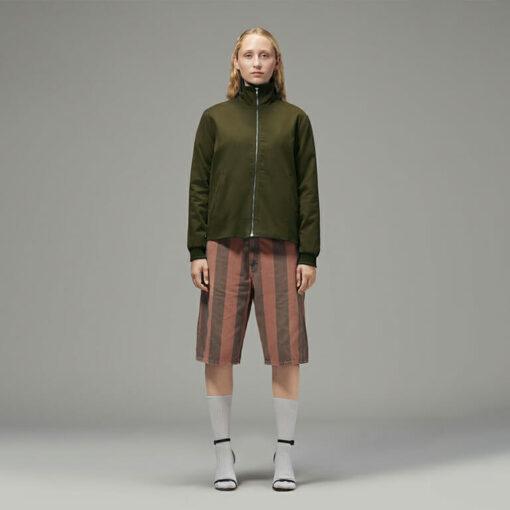Simple Green Hemp Jacket for Ladies by Hemp Tailors