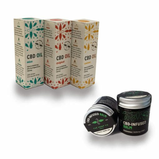 CBD Oil and Balm Bundle by Hemp Company Selection