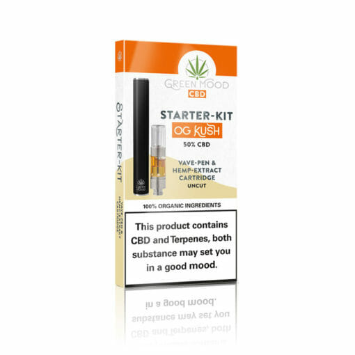 Vave pen with hemp extract cartridge by Green Mood