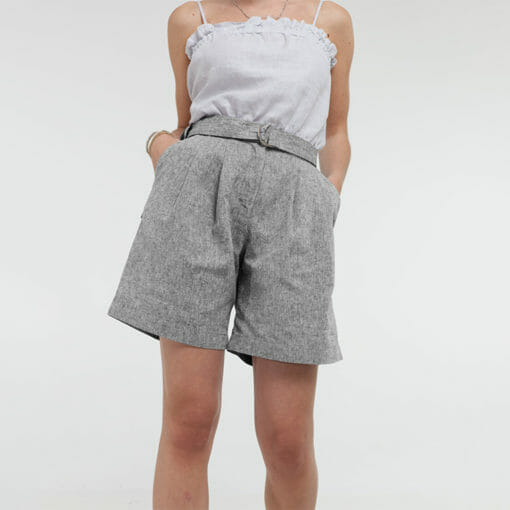 Comfortable Belted Wide Leg Shorts