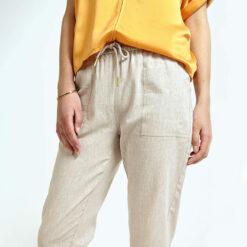 Draw String Crop Pants Female Closeup