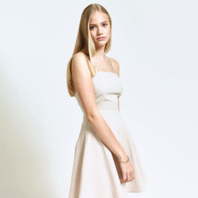 Hemp Fibre Fitted Back Strap Dress by Hemp Tailors