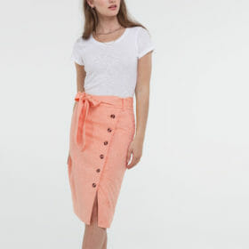 Ladies Side Button Down Dress by Hemp Tailors