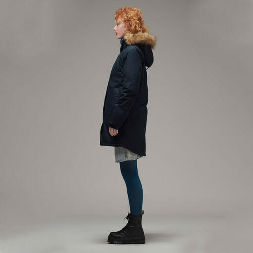 Ladies Designer Winter Coat Side View