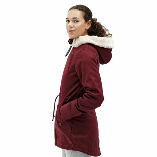 Ladies Designer Winter Coat Side Pocket and Zip View