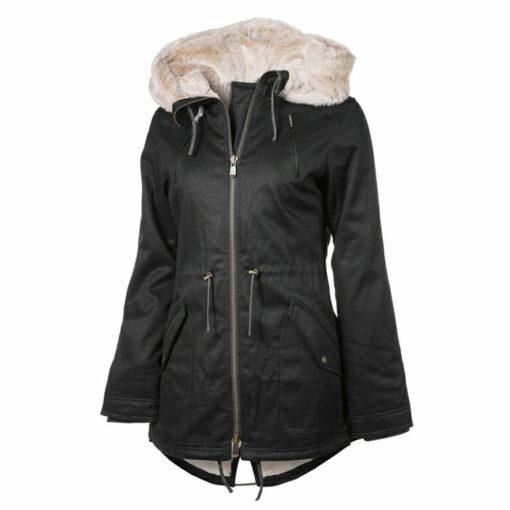 Ladies Designer Winter Coat Gray Colour Display View