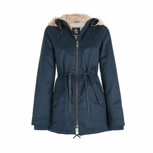 Ladies Designer Winter Coat Midnight Blue Colour Display View
