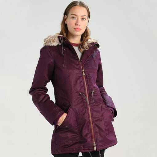 Ladies Sesigner Winter Coat Red Colour