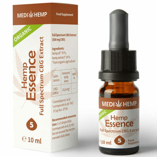 Hemp seed oil infused with CBG by MediHemp