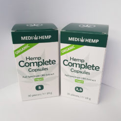 Easy to use hemp capsules by MediHemp