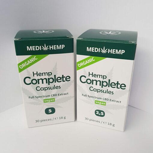 Easy to use hemp capsules by MediHemp