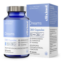 Dreams CBD Capsules 150mg by Elixinol