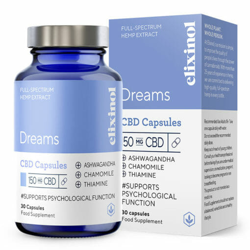 Dreams CBD Capsules 150mg by Elixinol