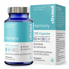 Harmony CBD Capsules 150mg by Elixinol