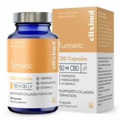 Turmeric CBD Capsules 150mg by Elixinol