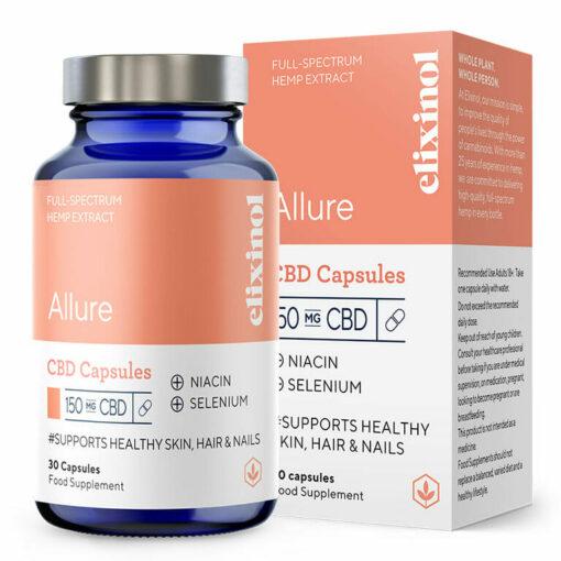 Allure CBD Capsules 150mg by Elixinol