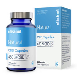 Natural CBD Capsules 450mg by Elixinol