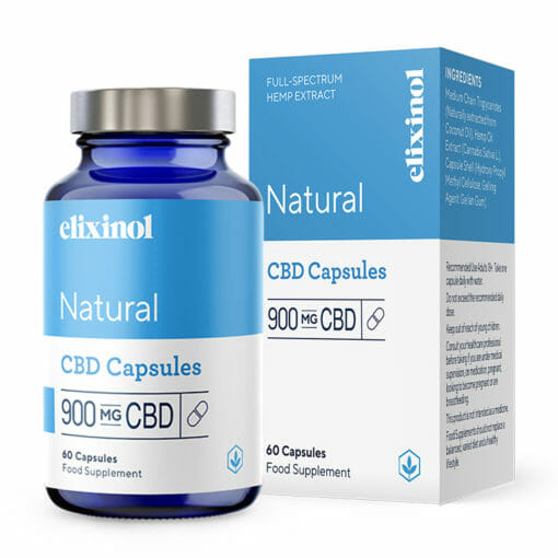 Natural CBD Capsules 900mg by Elixinol