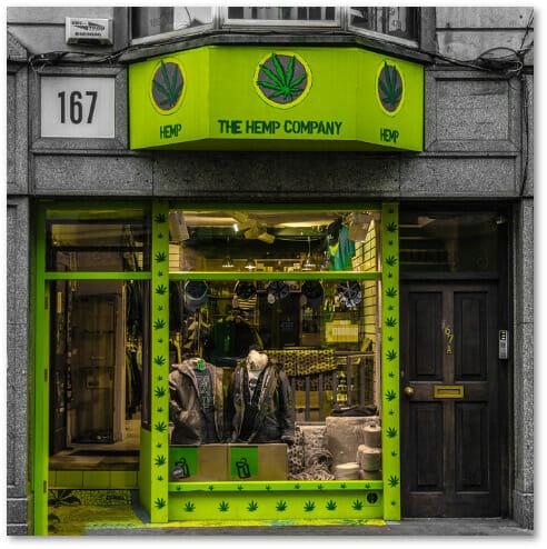 Front Entrance of The Hemp Company Dublin Store