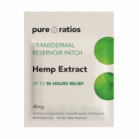 Transdermal Hemp Extract Patch by Pure Ratios