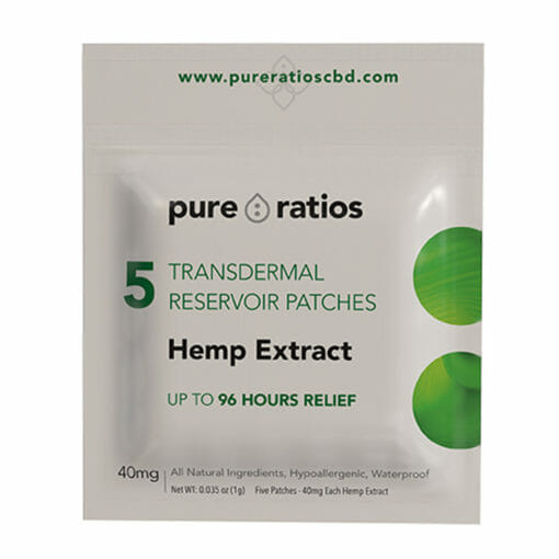 Transdermal Hemp Extract Patch 5 Pack by Pure Ratios
