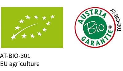 At Bio 301 EU Agriculture & Austria Bio Garantie Logos