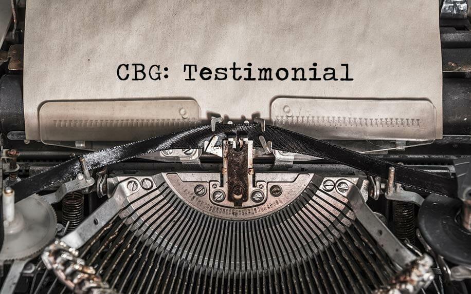 CBG My personal Journey